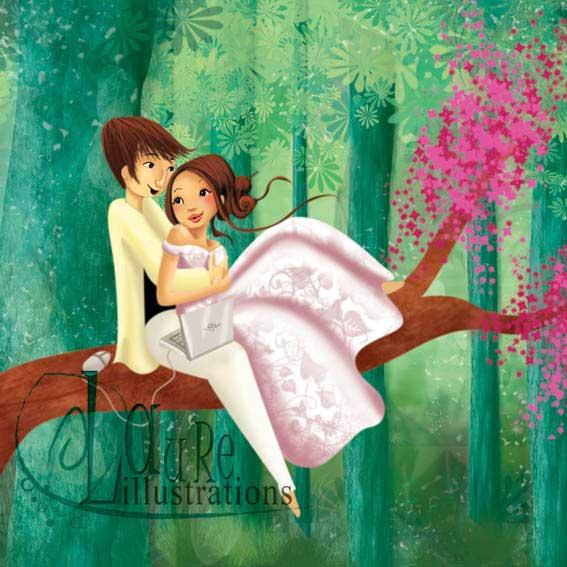 faire-part de mariage dans laforet