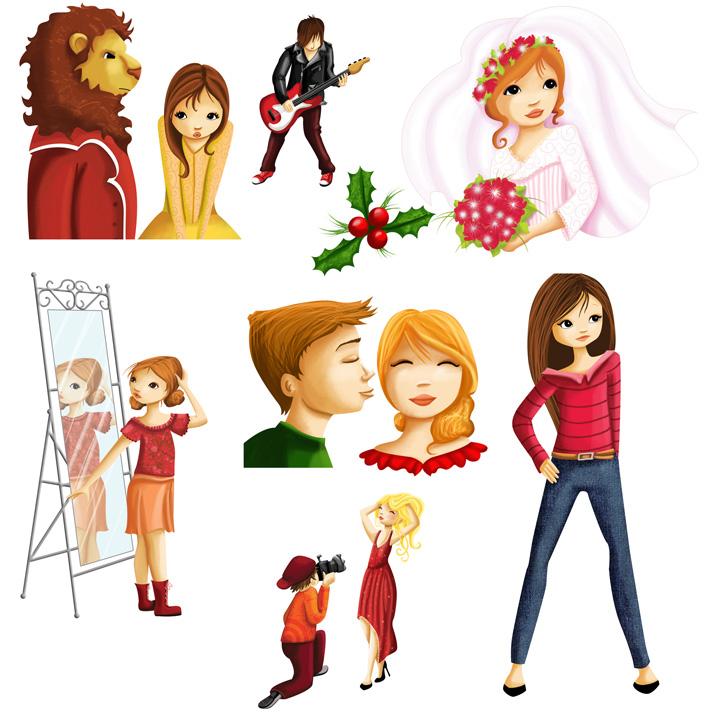 les illustrations pour les filles