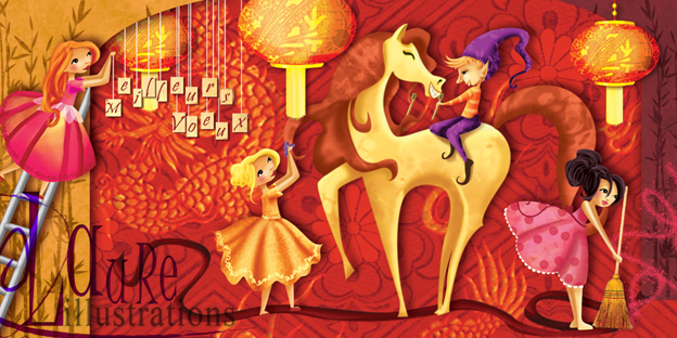 année du cheval illustration pour l'entreprise pronet