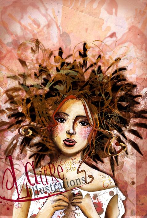 Un portrait de femme pour une couverture de roman