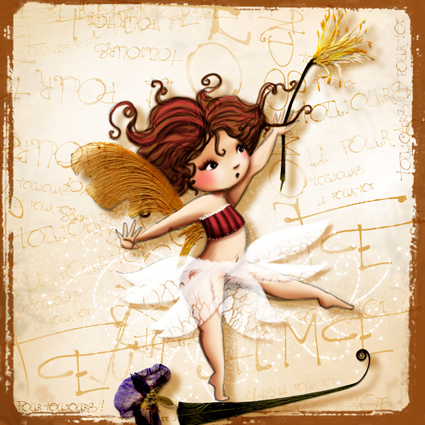 petite fée funambule illustration