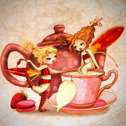 l'heure du thé chez les fées