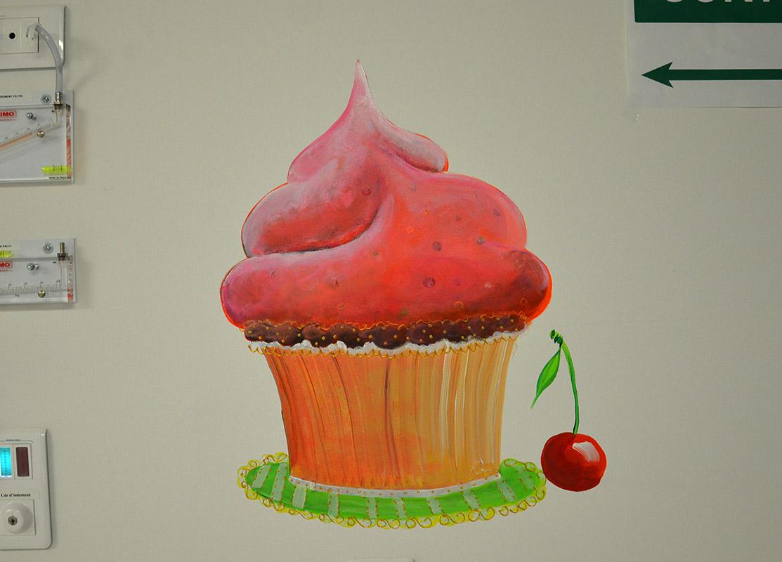 illustration de CupCake à la cerise géant
