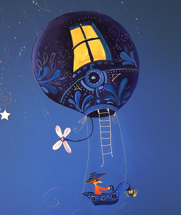 Fresque montgolfiére