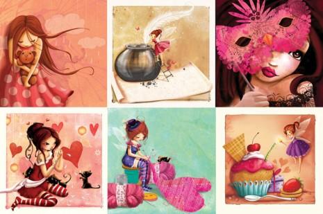 mes cartes pour la collection, la vie en rose