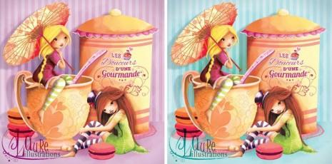 illustrations de fées gourmandes