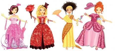 les princesses à habiller chez 2 coqs d'or