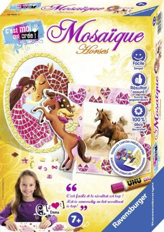 Mosaique horse de Laure Phelipon