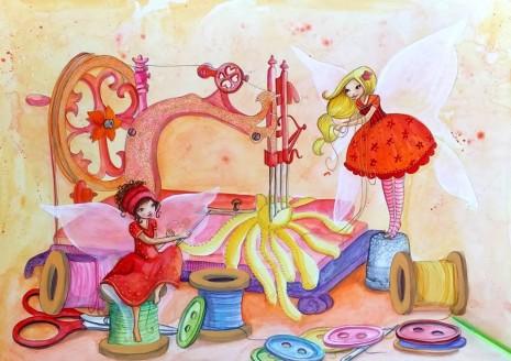 Aquaralle de Laure Phelipon, les fées couturiéres