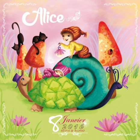 Faire part pour Alice par Laure Phelipon
