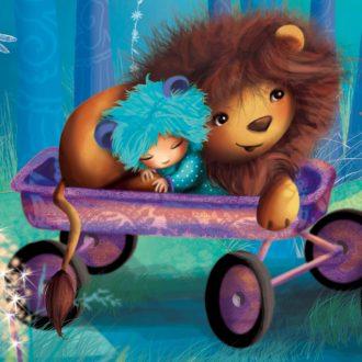 Extrait du faire part, le lion et l'enfant