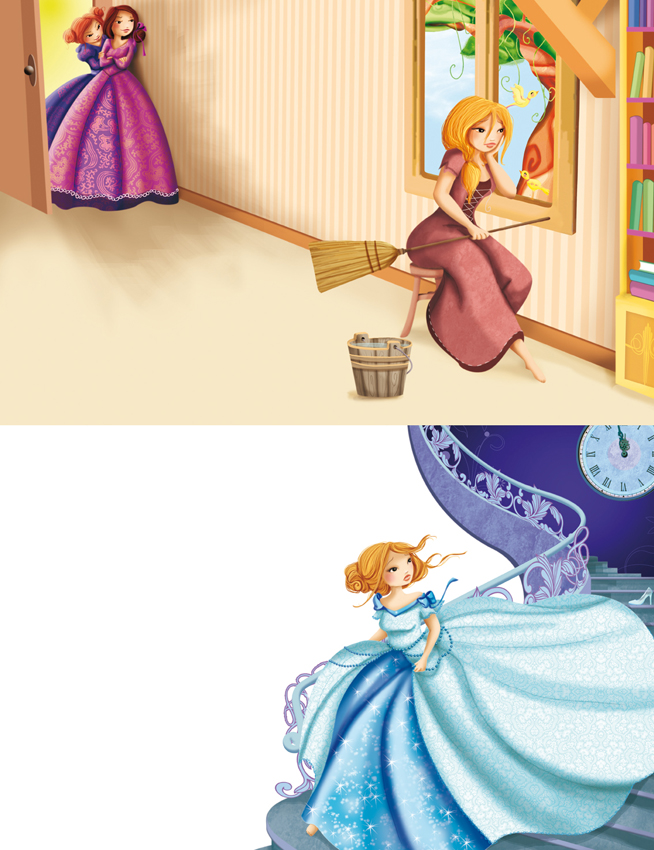 illustration jeunesse cendrillon