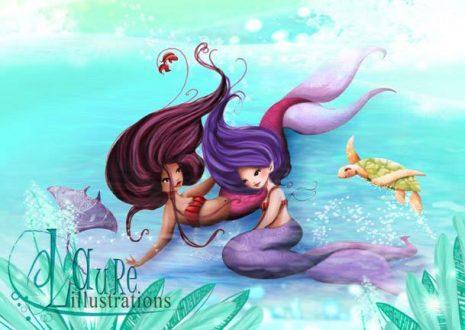 illustration jeunesse sirène