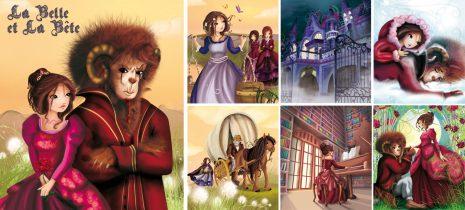 La belle et la bête, illustration jeunesse