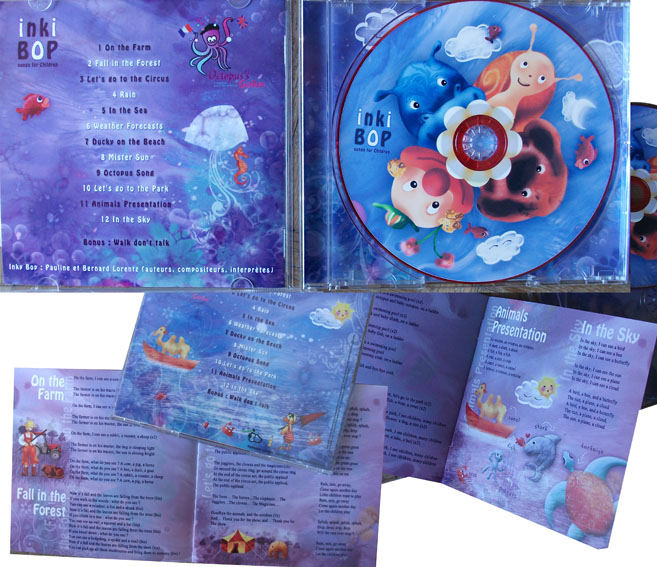 cd enfant illustration anglais