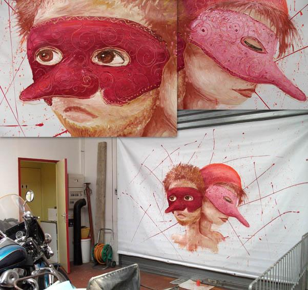 peinture-fresque-comedia-del-arte