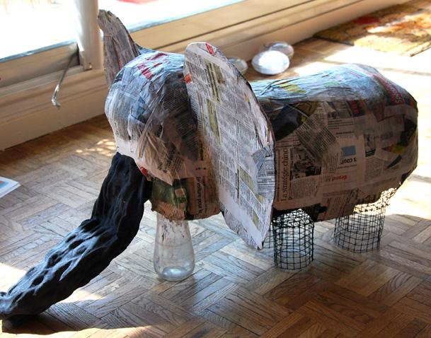 un l phant en papier m ch ptit blog d 39 une. Black Bedroom Furniture Sets. Home Design Ideas