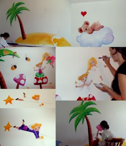 une fresque dans une salle de jeux d 39 enfants ptit blog d 39 une illustratrice jeunesse. Black Bedroom Furniture Sets. Home Design Ideas