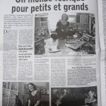 article dans le journal de l'illustratrice laure phelipon