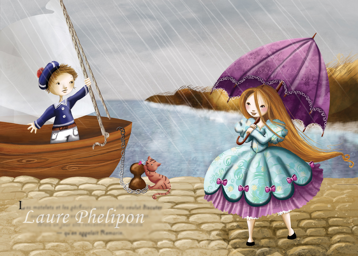 illustration de la princesse et de son marin terminée