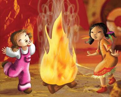 illustration de danse autour du feu