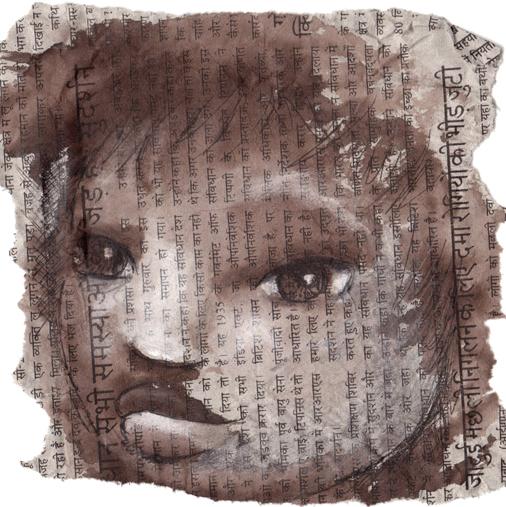 croquis de portrait d'enfant pour un carnet de voyage