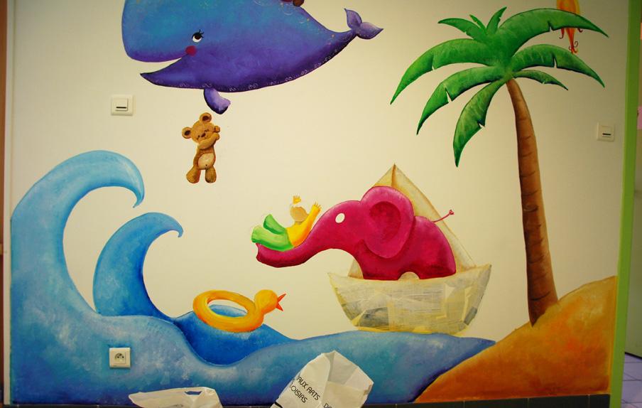 Fresque pour les enfants du sillon ptit blog d 39 une for Peinture murale enfant