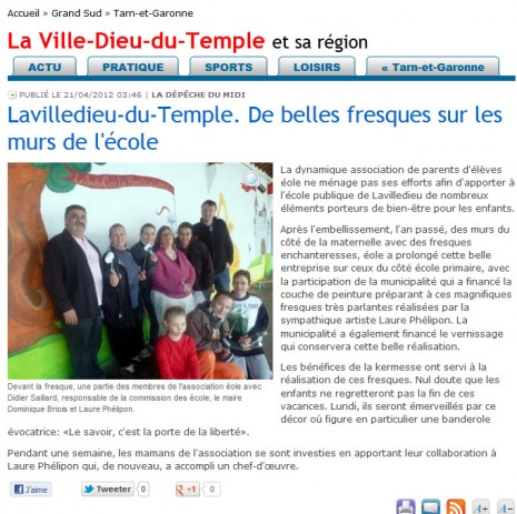 article fresque