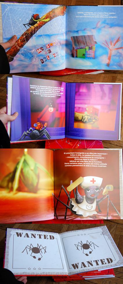 illustrations pages intérieures séléné l'araignée