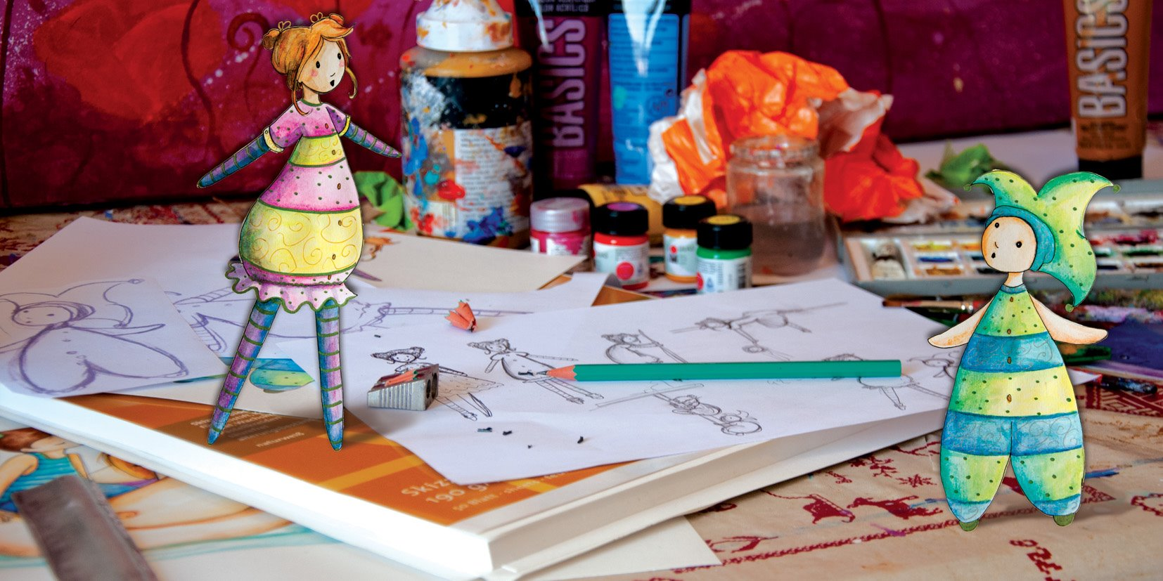 lutine et lutin en illustration jeunesse