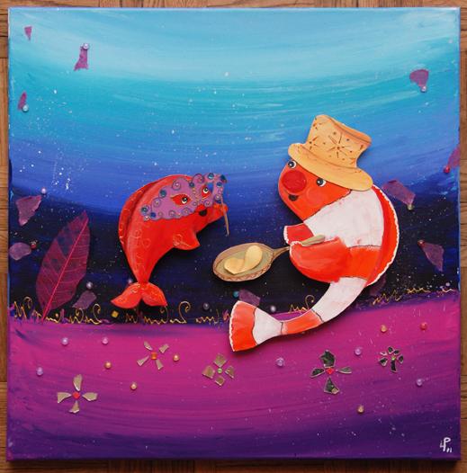 original de Célestin acrylique sur toile