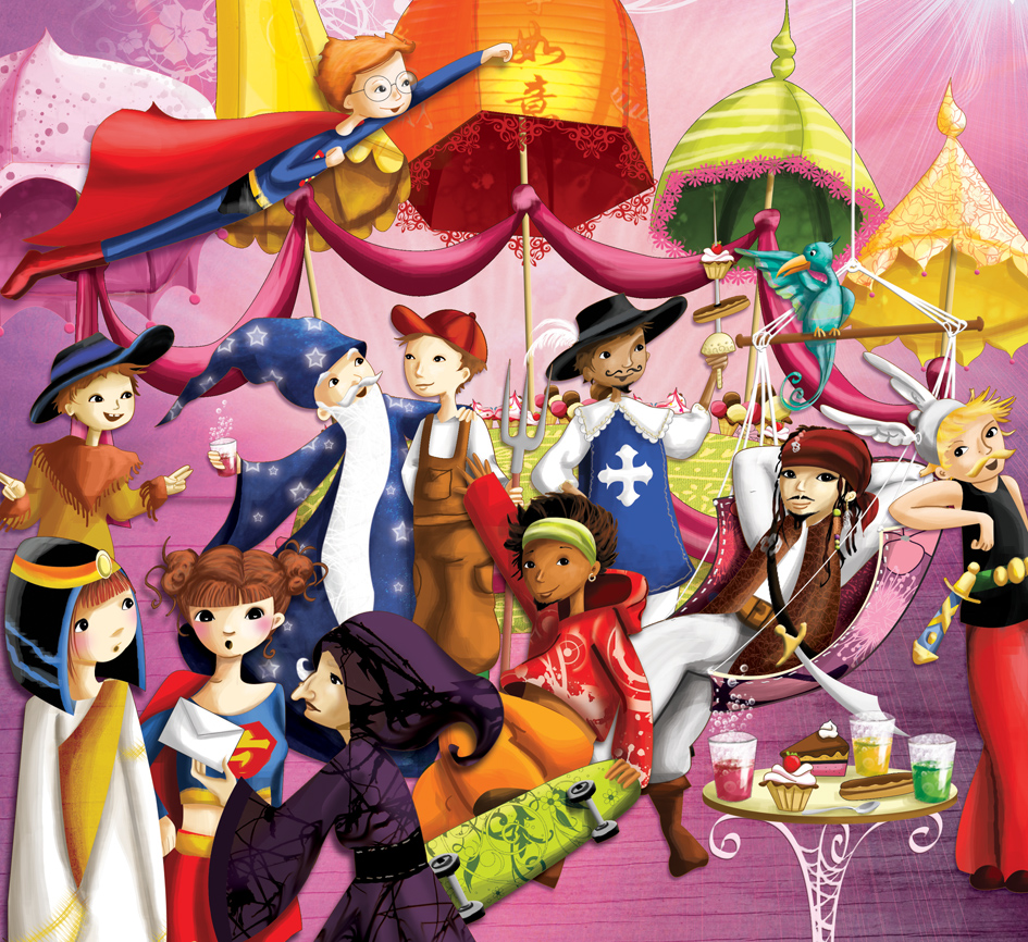 illustration pour le disney girl hachette
