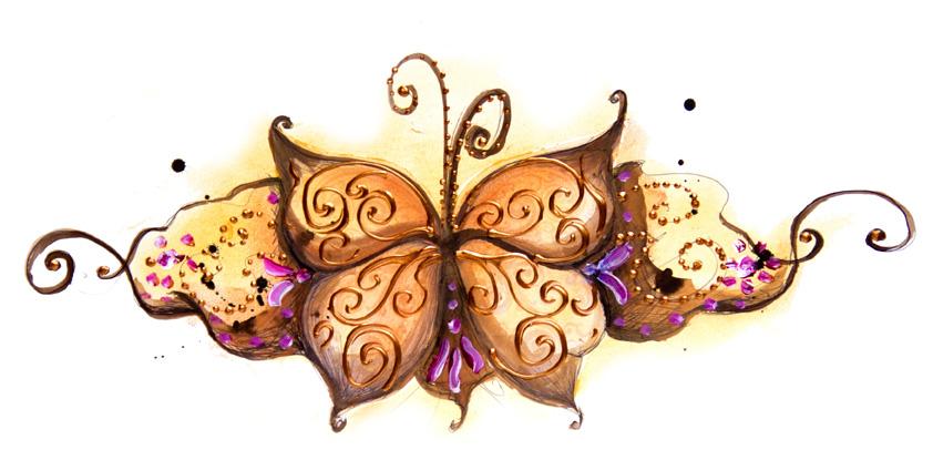 illustration papillon pour marque de tee-shirt