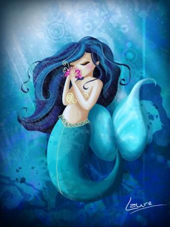 illustration de sirène mélancolique