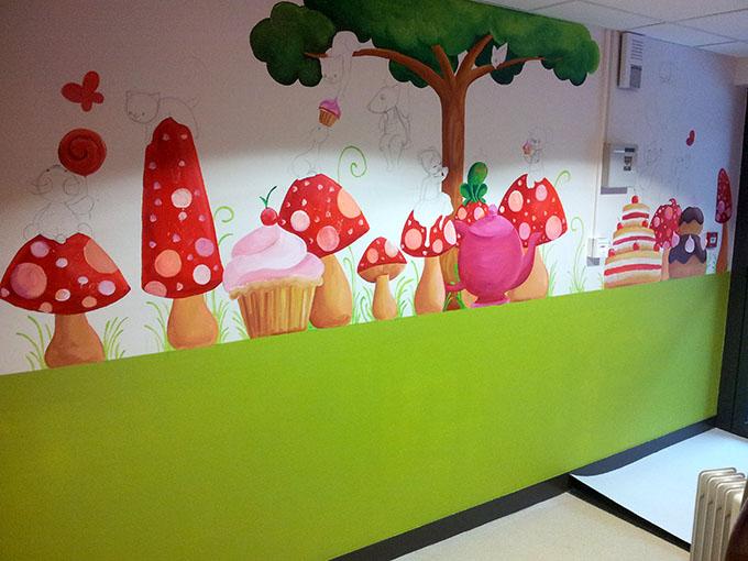 Fresque murale enfant 20170724144538 for Dessin mural peinture