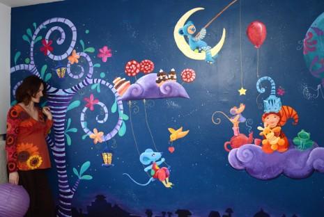 Fresque f rique pour une chambre d 39 enfant ptit blog d - Peinture princesse disney ...