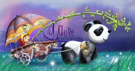 illustration panda brouette petit prince