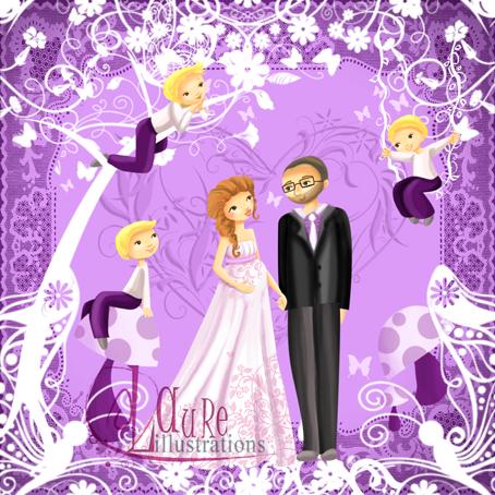 faire-part de mariage en dentelle