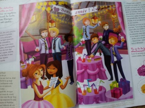illustration dans la magazine