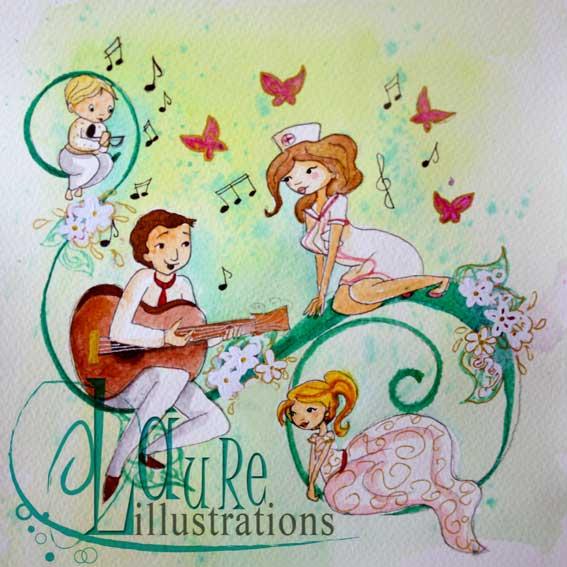 illustrations de faire-part personnalisé de mariage et de naissance