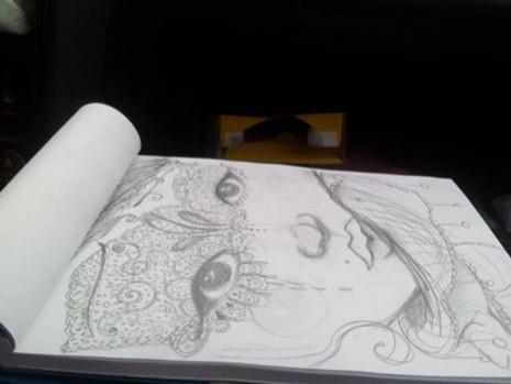 portrait de femme croquis