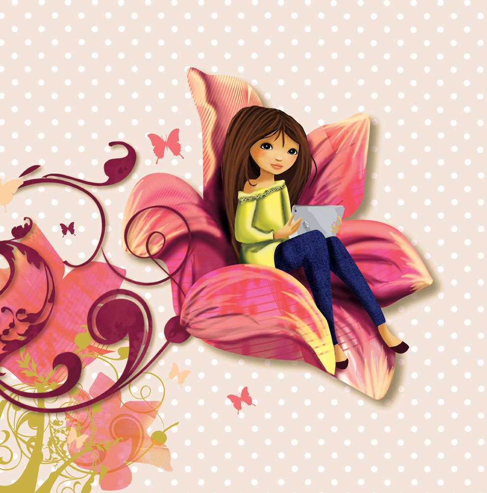 Création du personnage de la marque : Melle Elina