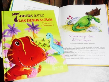 illustrations jeunesse de dinosaures
