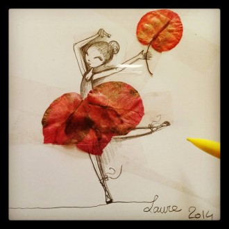 petite danseuse avec fleur