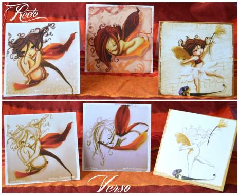 carte postale fées recto et verso