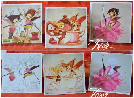 cartes postales fées recto verso