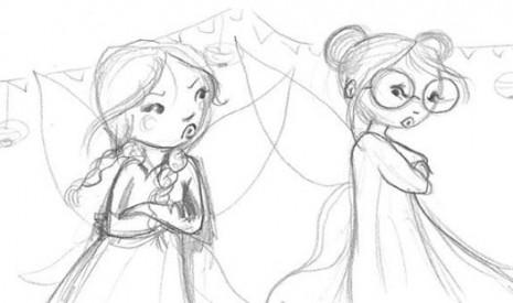 illustrations de fées sorcières et ogres