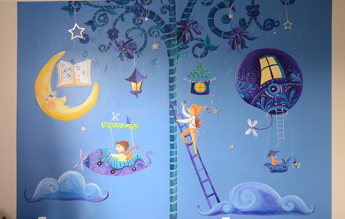 Fresque pour une chambre de garçon