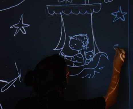Réalisaiton des dessins au vidéo projecteur
