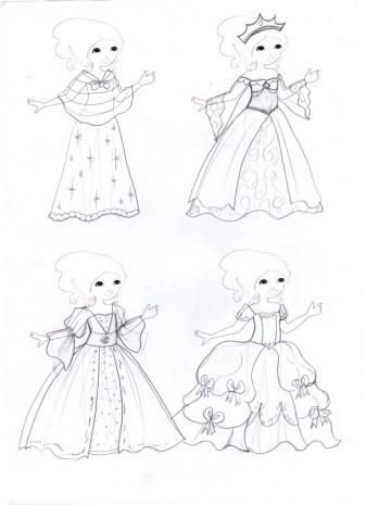 les croquis de mes robes de princesses 2